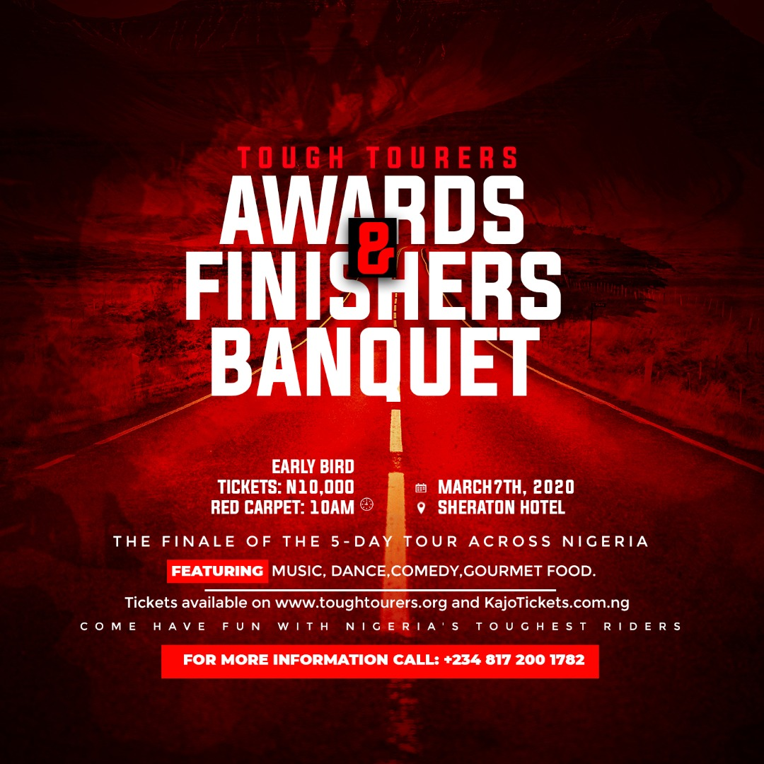 Tough Tourers Awards and Finishers' Banquet 2020– A celebration of Nigeria's Toughest Riders!