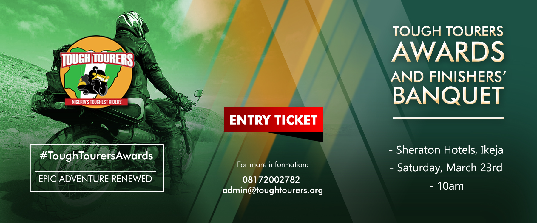 Tough Tourers Awards and Finishers' Banquet – A celebration of Nigeria's Toughest Riders!