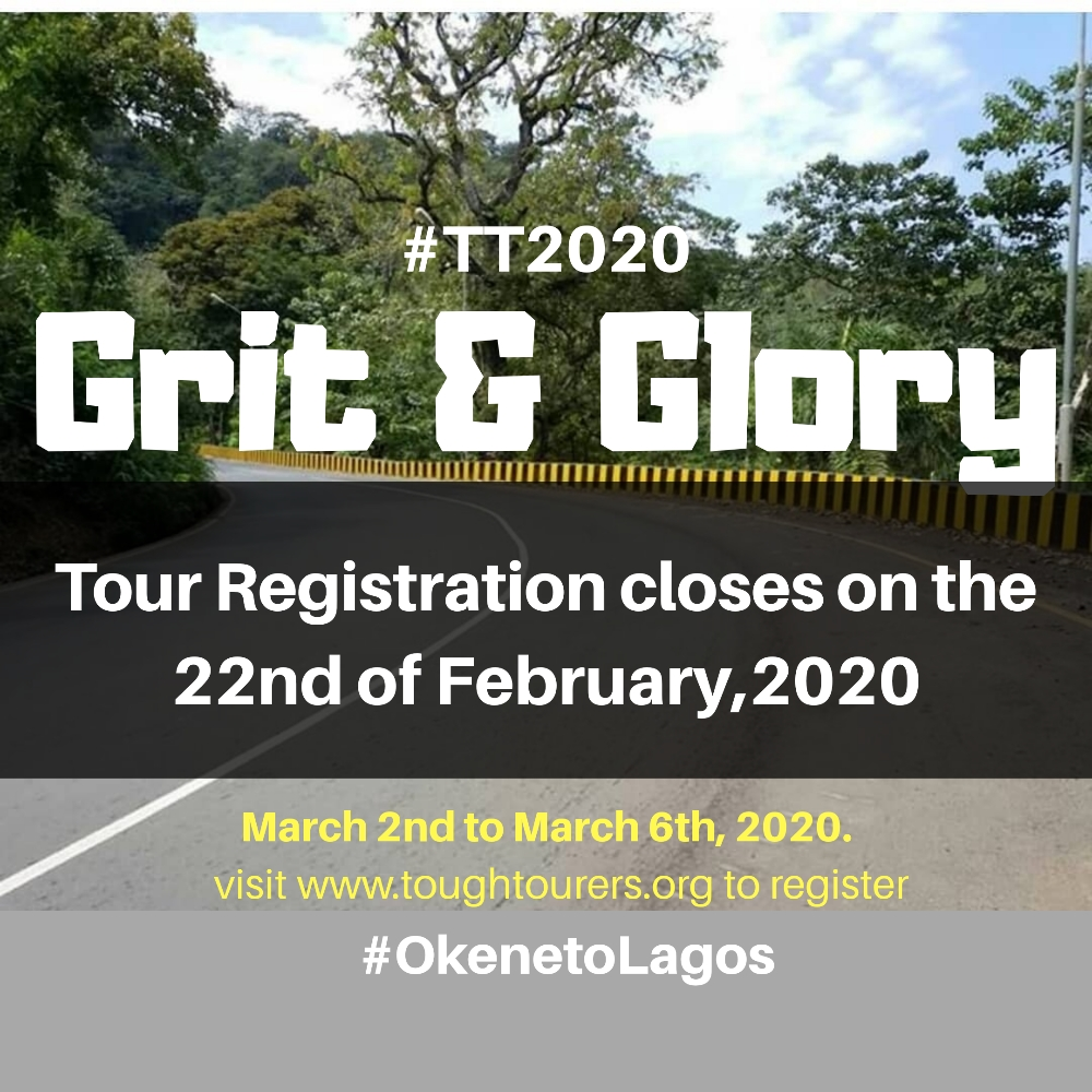 9 days to the close of TT 2020 registration!  #Toughtourers #GritsandGlory  #Adventure #TT2020 #somewhere_in_Nigeria  #Strictly_by_merit